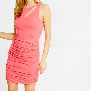Slash Ruched Dress 💓